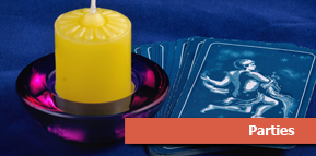 Candle with Tarot Cards - Psychic Readings
